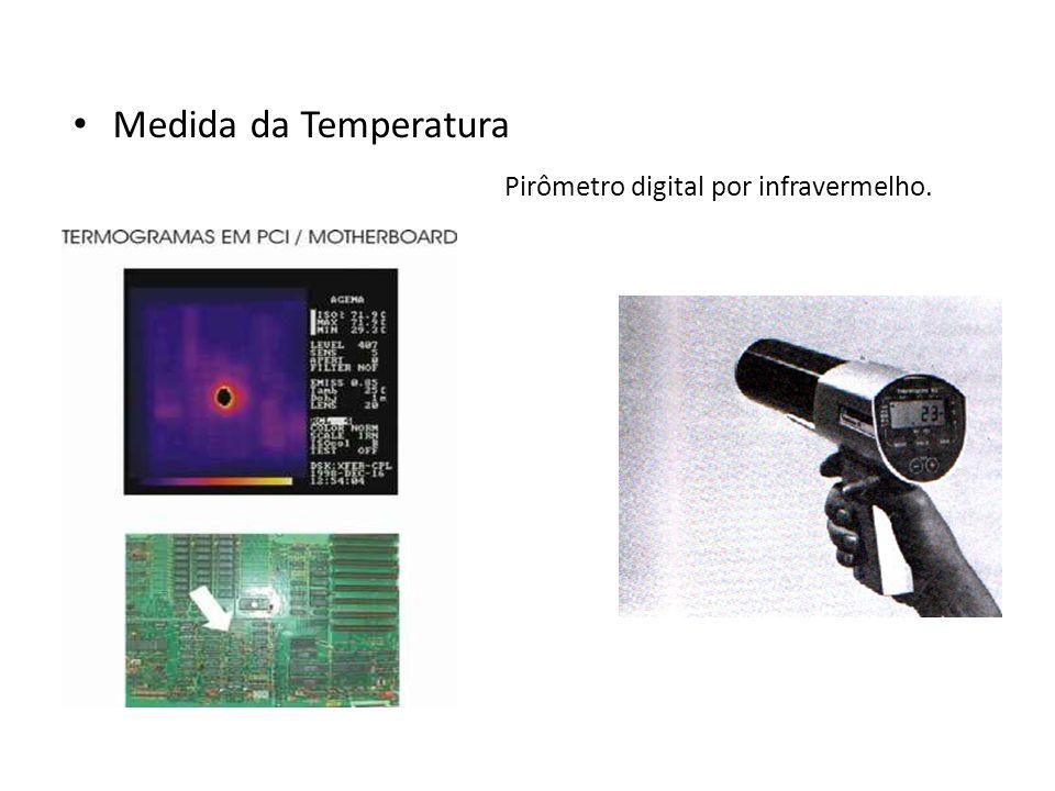 Medida da Temperatura Pirômetro digital por infravermelho.