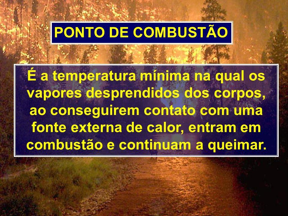 PONTO DE COMBUSTÃO