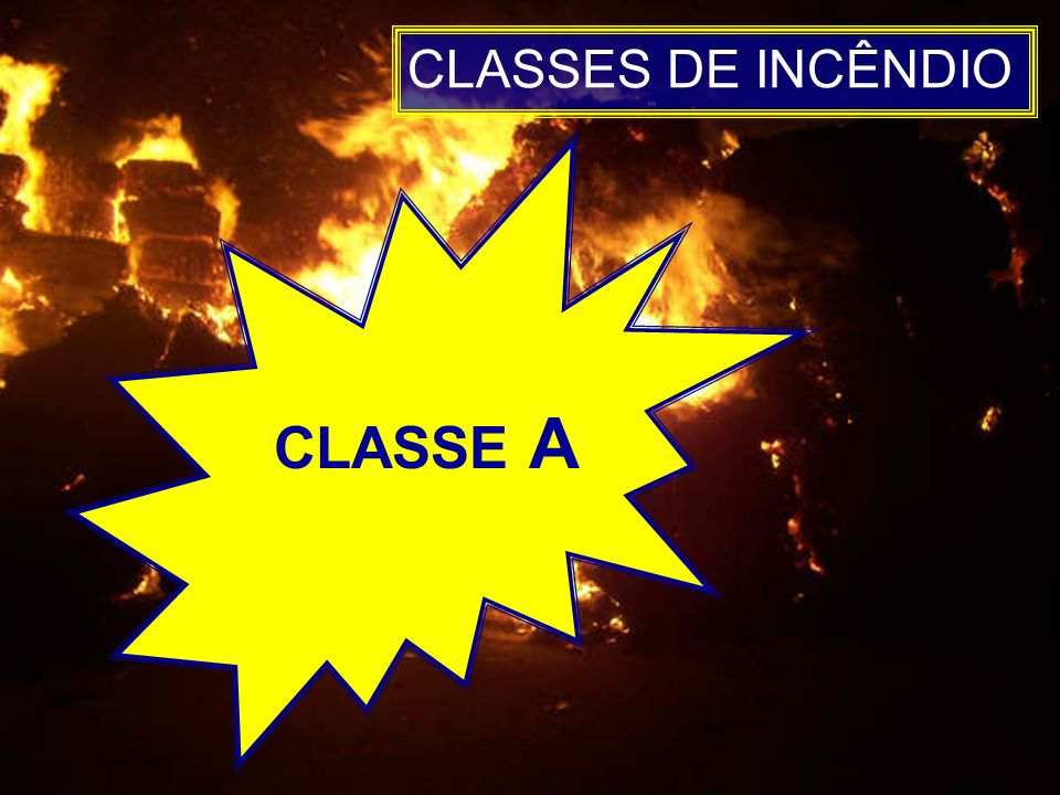 CLASSES DE INCÊNDIO CLASSE A