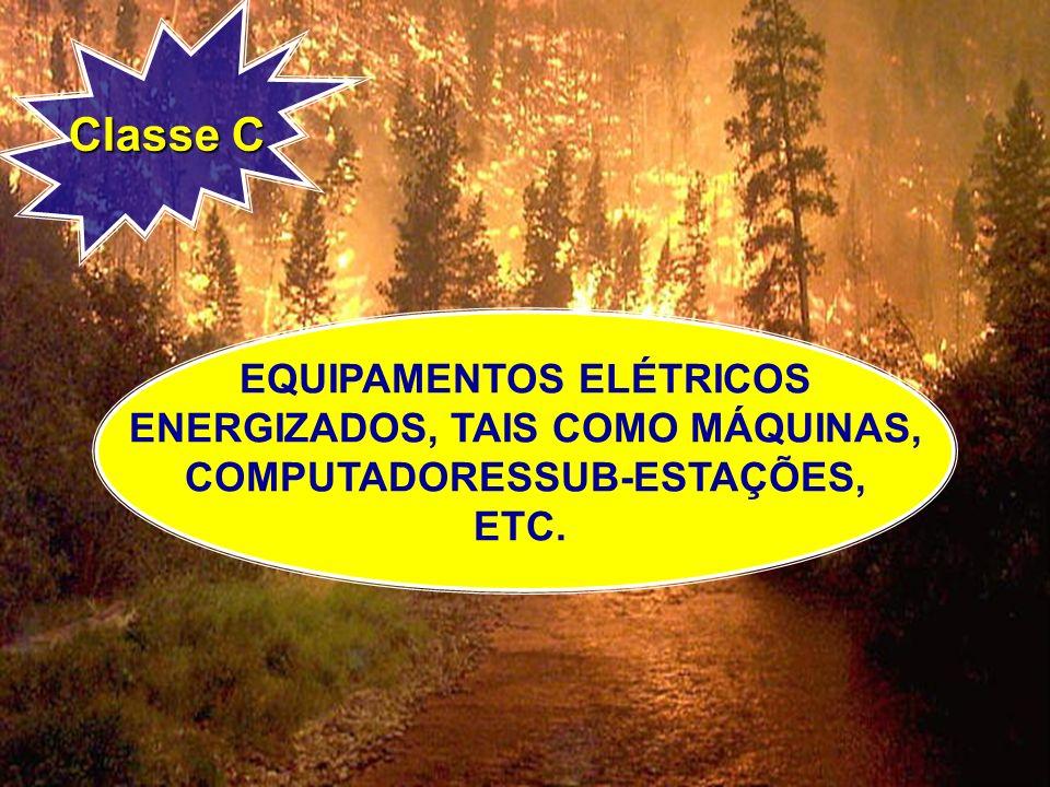 Classe C EQUIPAMENTOS ELÉTRICOS ENERGIZADOS, TAIS COMO MÁQUINAS,
