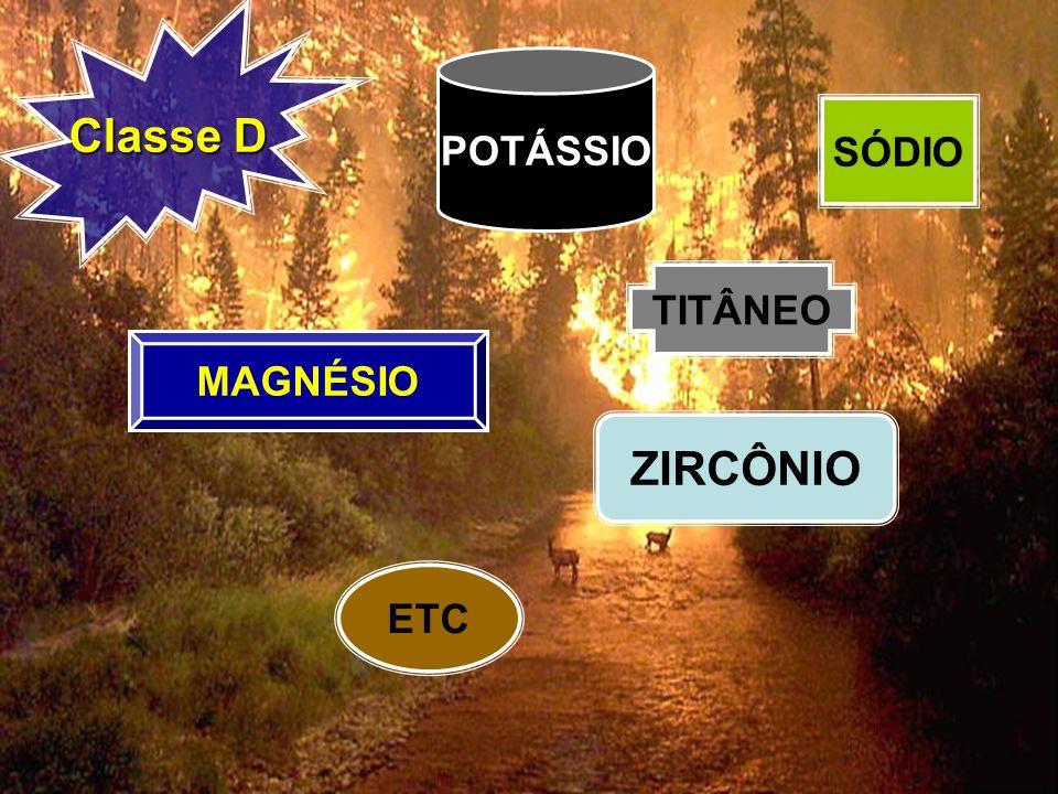 Classe D POTÁSSIO SÓDIO TITÂNEO MAGNÉSIO ZIRCÔNIO ETC