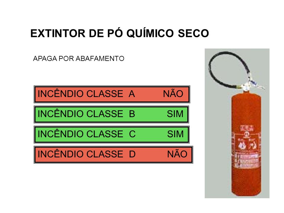 EXTINTOR DE PÓ QUÍMICO SECO