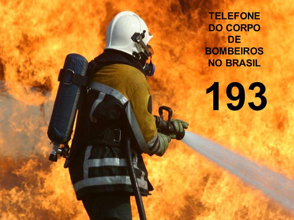 TELEFONE DO CORPO DE BOMBEIROS NO BRASIL
