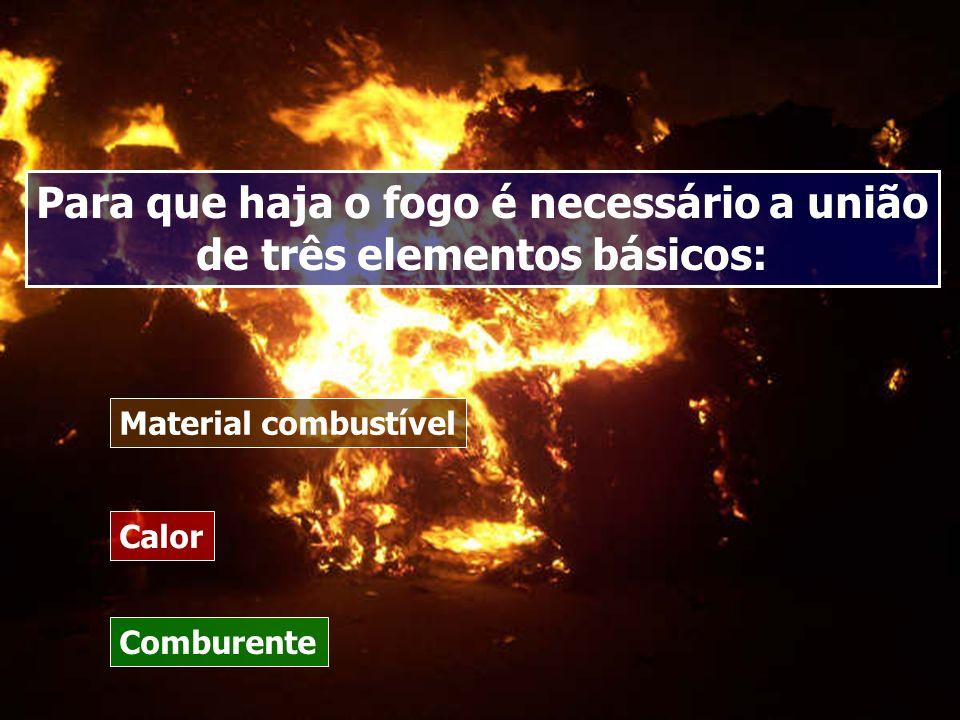 Para que haja o fogo é necessário a união de três elementos básicos: