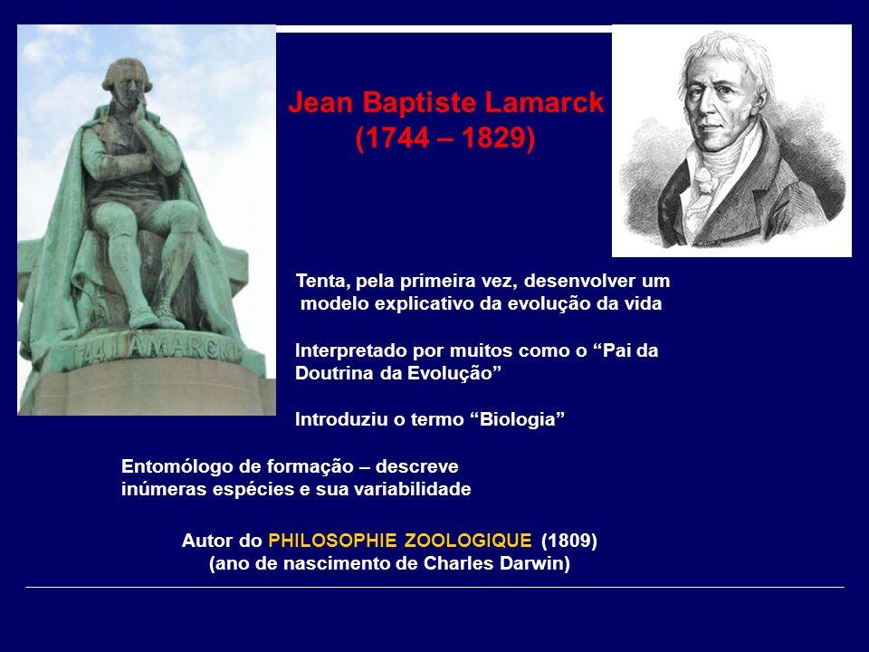 Jean Baptiste Lamarck (1744 – 1829)