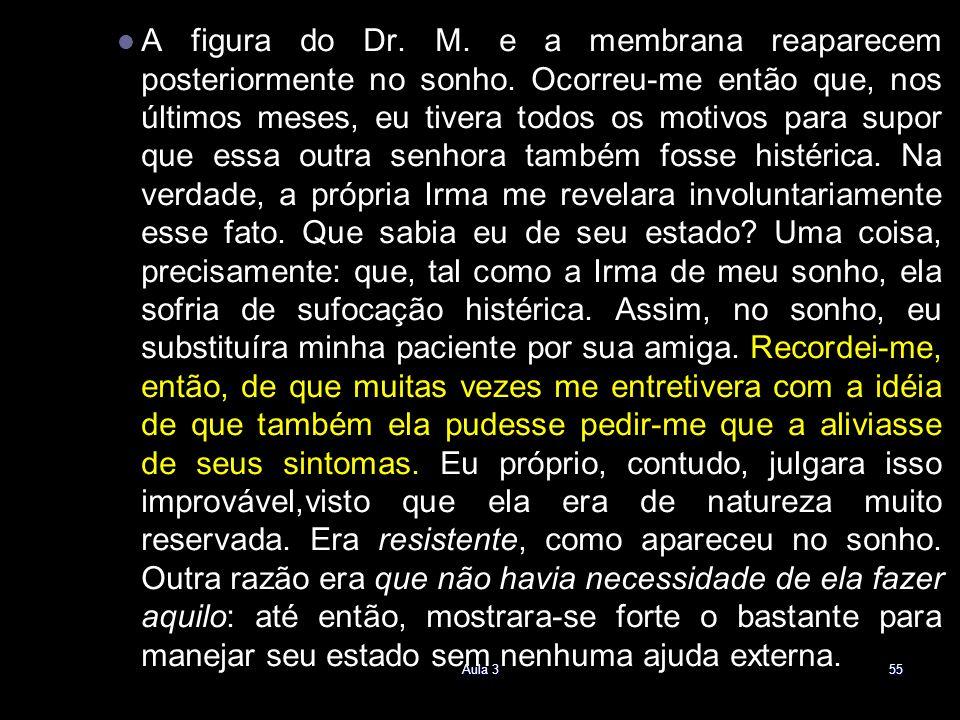 A figura do Dr. M. e a membrana reaparecem posteriormente no sonho