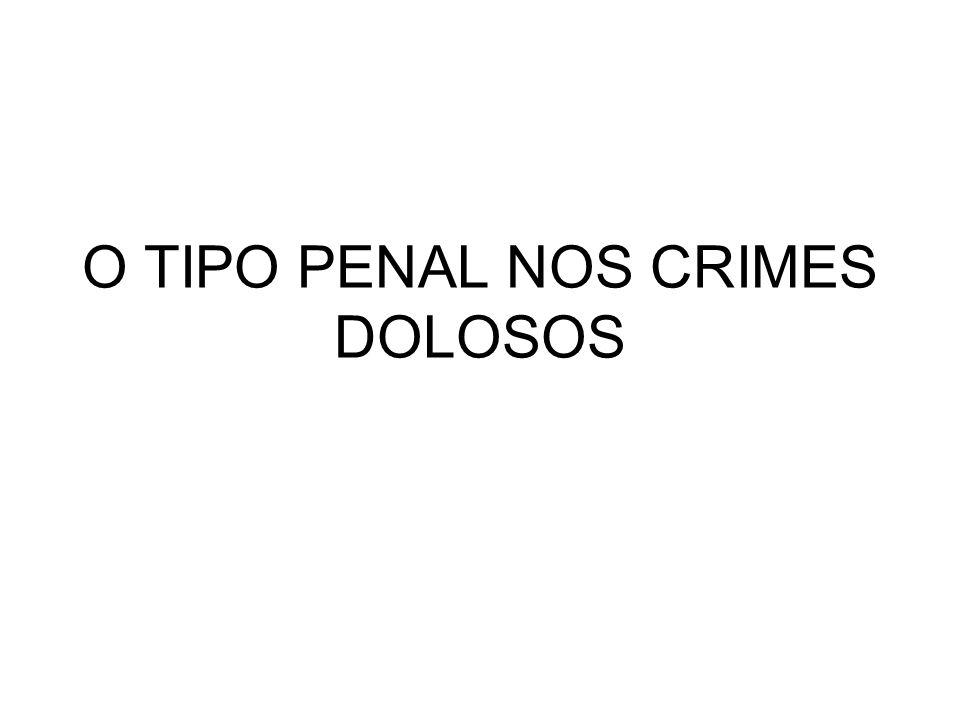 O TIPO PENAL NOS CRIMES DOLOSOS