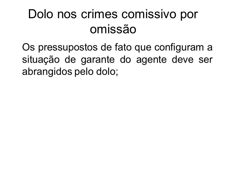 Dolo nos crimes comissivo por omissão