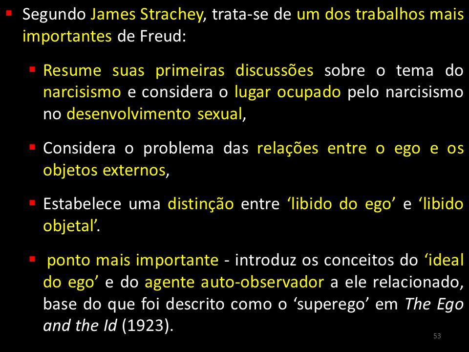 Segundo James Strachey, trata-se de um dos trabalhos mais importantes de Freud: