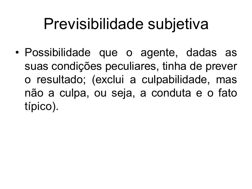 Previsibilidade subjetiva