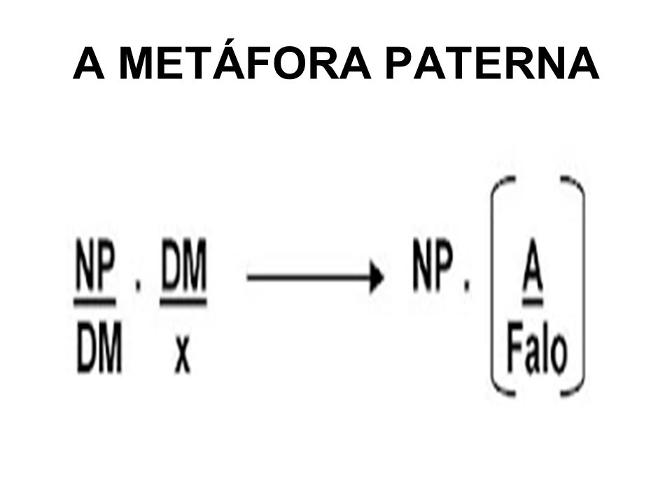 A METÁFORA PATERNA