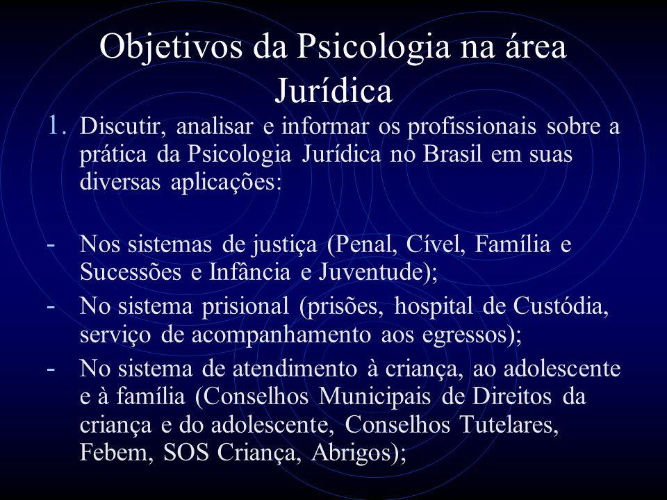 Objetivos da Psicologia na área Jurídica