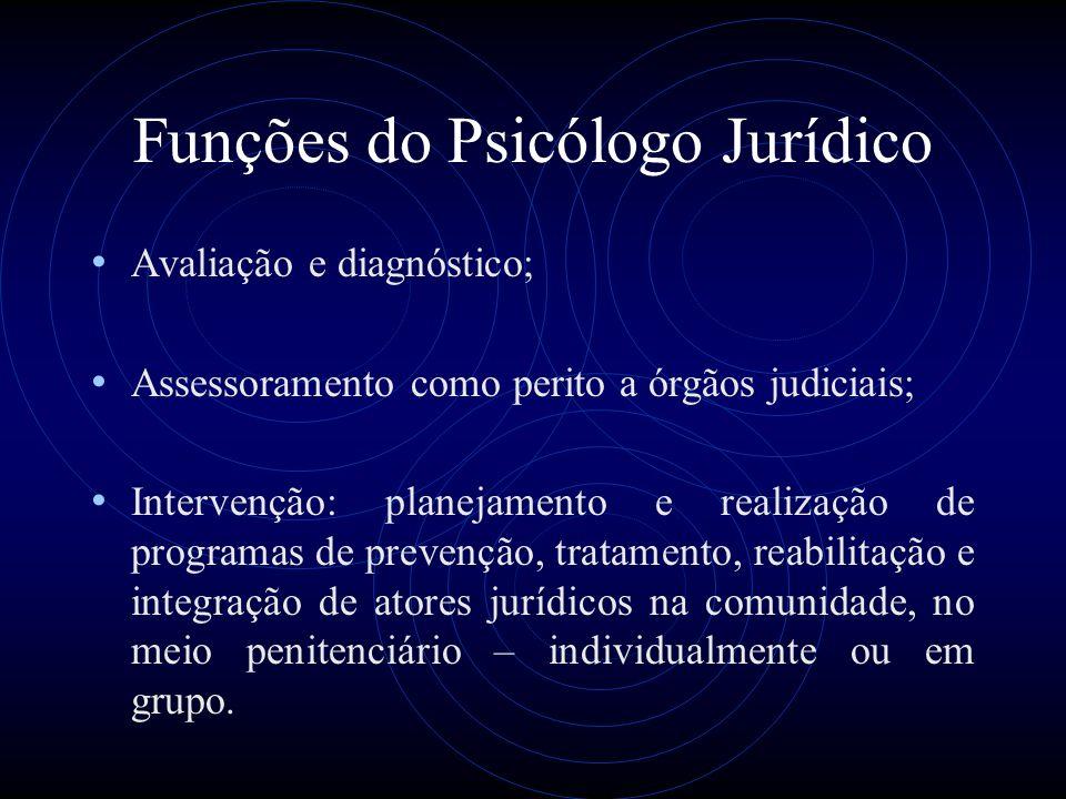Funções do Psicólogo Jurídico