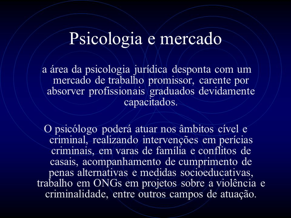 Psicologia e mercado