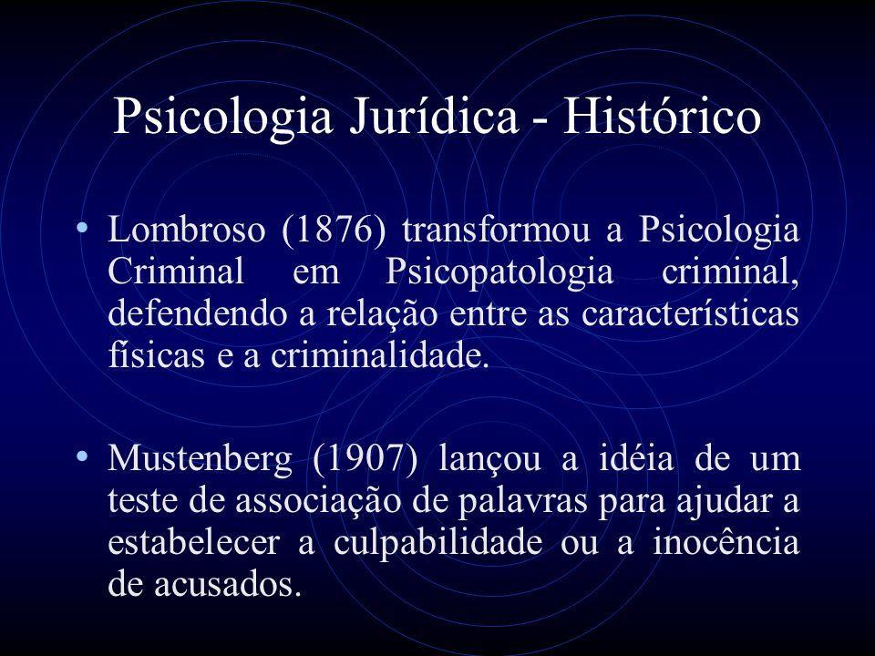 Psicologia Jurídica - Histórico
