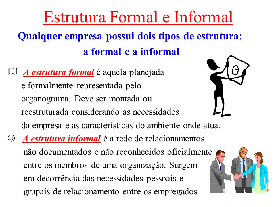 Estrutura Formal e Informal