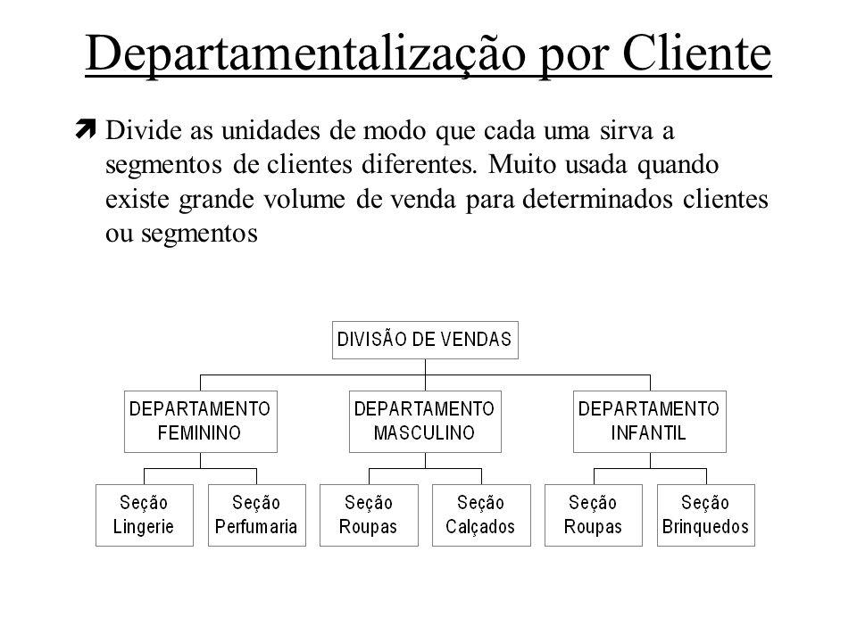 Departamentalização por Cliente