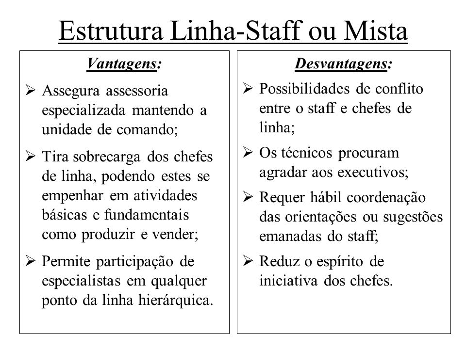 Estrutura Linha-Staff ou Mista