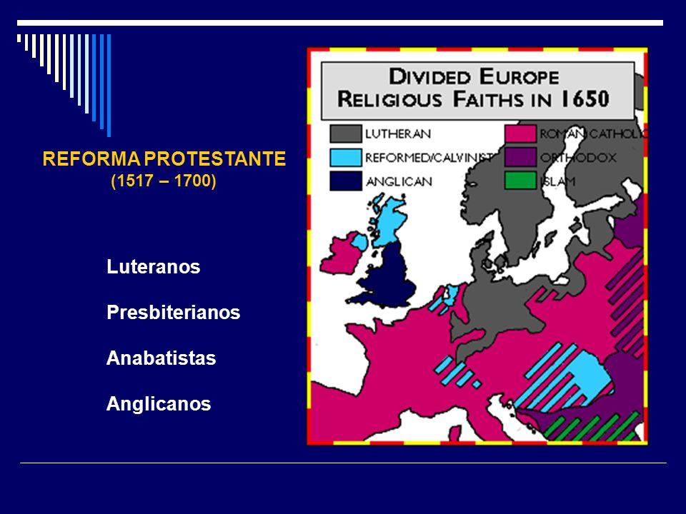 REFORMA PROTESTANTE Luteranos Presbiterianos Anabatistas Anglicanos