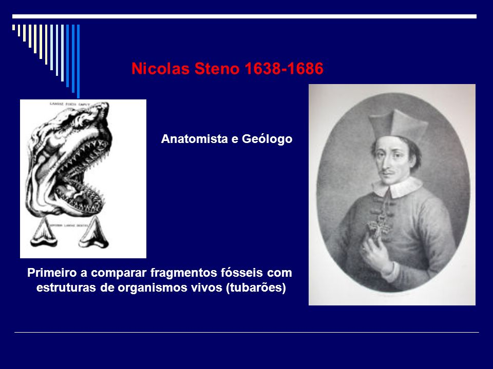 Nicolas Steno 1638-1686 Anatomista e Geólogo