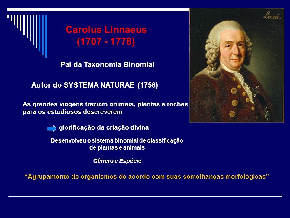 Desenvolveu o sistema binomial de classificação