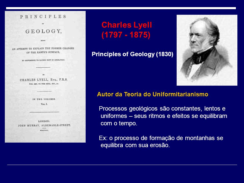 Charles Lyell (1797 - 1875) Principles of Geology (1830)