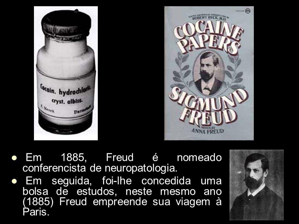 Em 1885, Freud é nomeado conferencista de neuropatologia.