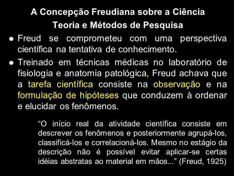 A Concepção Freudiana sobre a Ciência Teoria e Métodos de Pesquisa