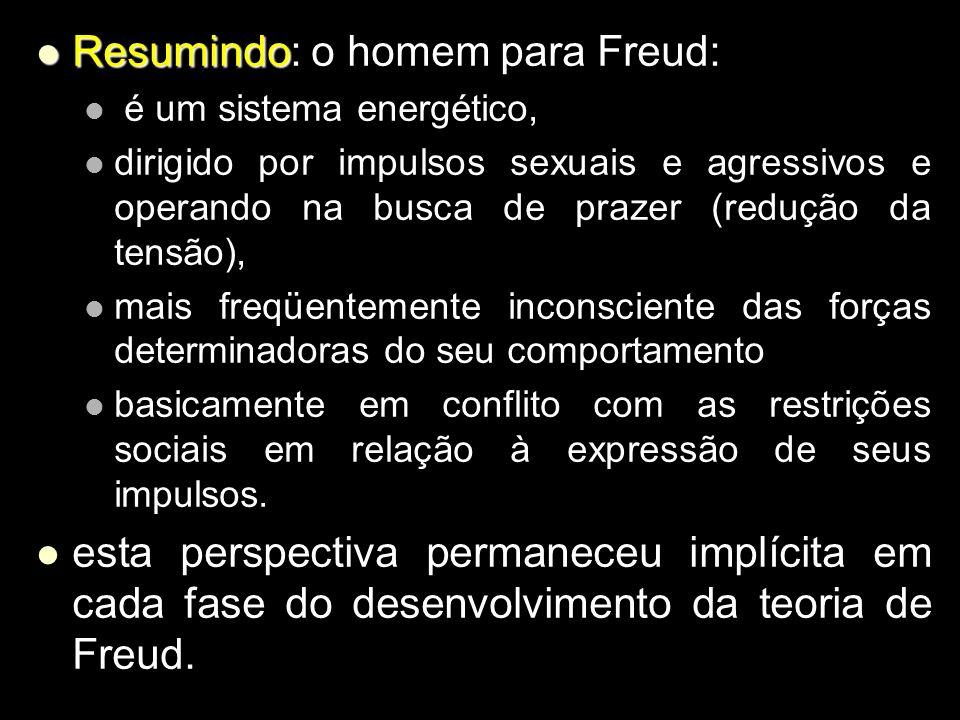 Resumindo: o homem para Freud: