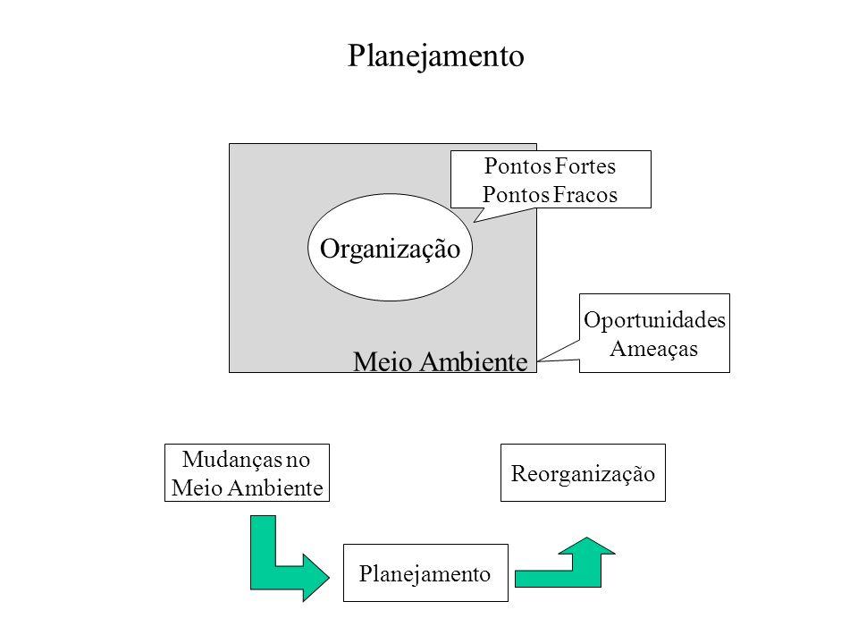 Planejamento Organização Meio Ambiente Pontos Fortes Pontos Fracos