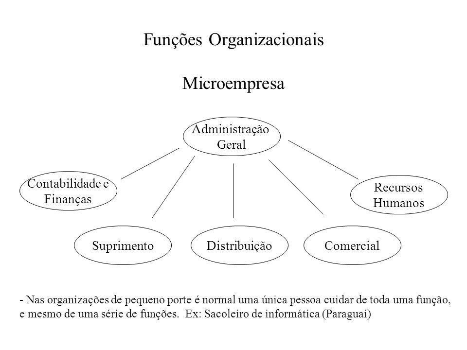 Funções Organizacionais Microempresa