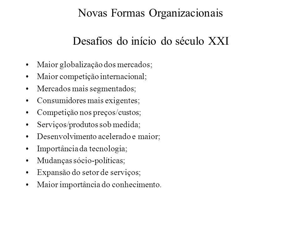 Novas Formas Organizacionais Desafios do início do século XXI