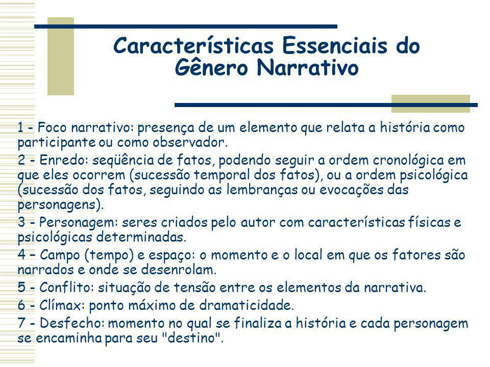 Características Essenciais do Gênero Narrativo