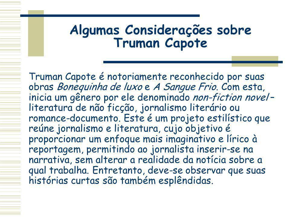 Algumas Considerações sobre Truman Capote