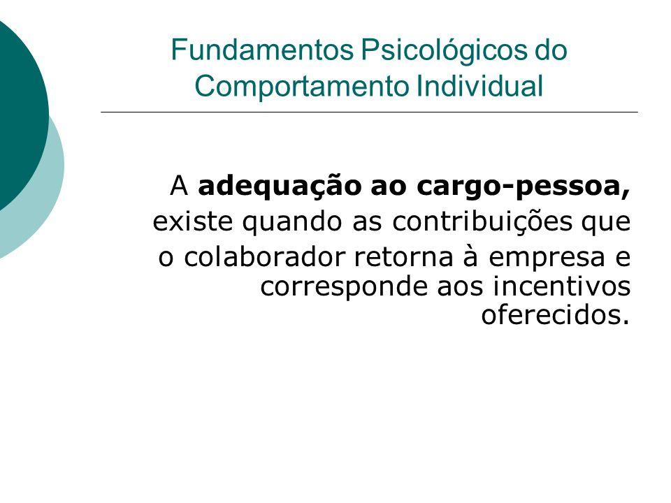 Fundamentos Psicológicos do Comportamento Individual