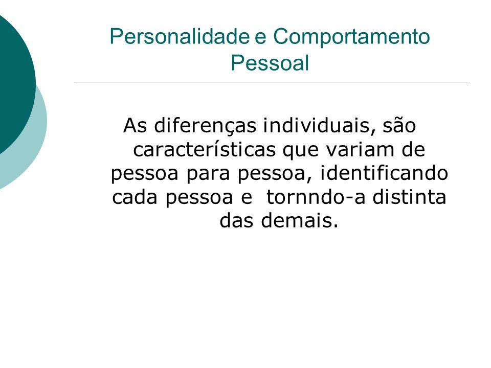 Personalidade e Comportamento Pessoal