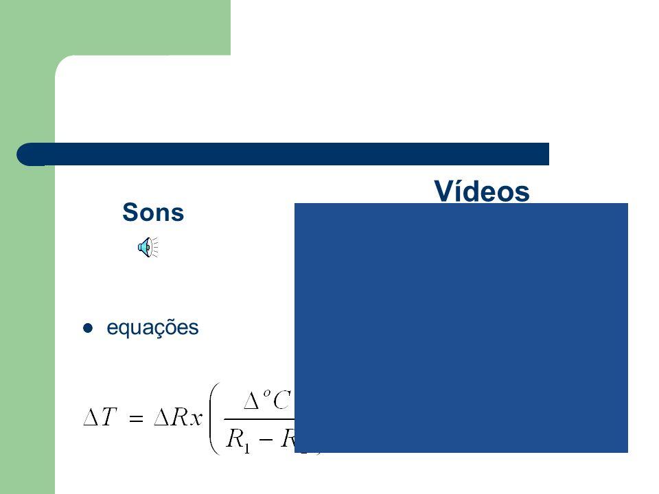 Vídeos Sons equações