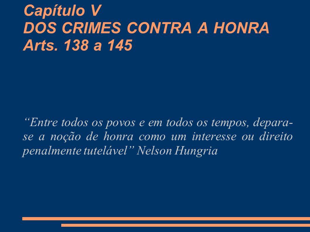 Capítulo V DOS CRIMES CONTRA A HONRA Arts. 138 a 145