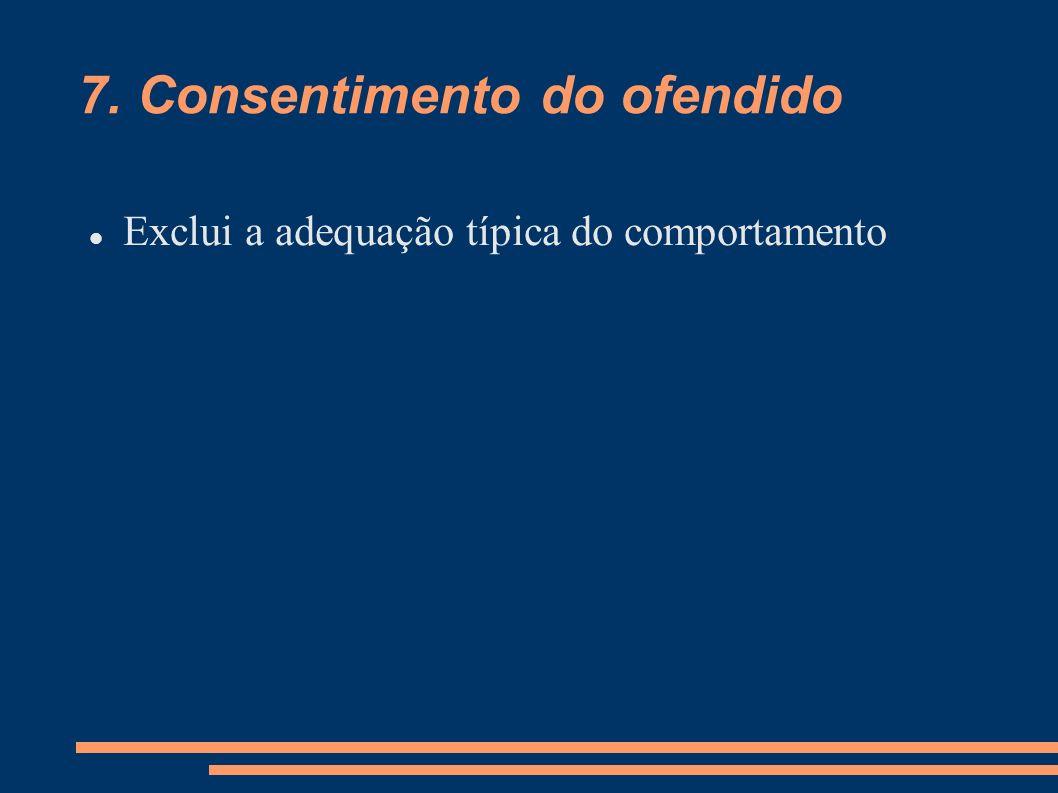 7. Consentimento do ofendido