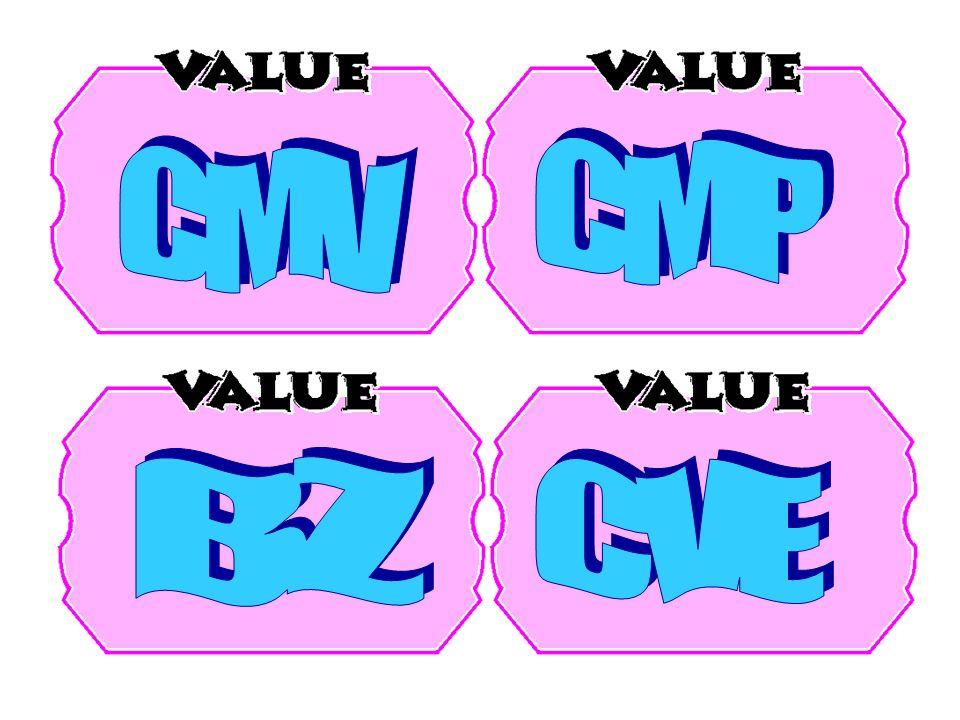 CMP CMV BZ CVE