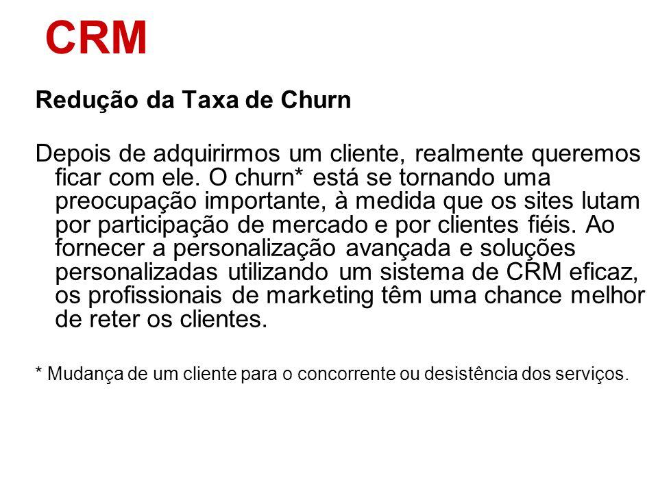 CRM Redução da Taxa de Churn