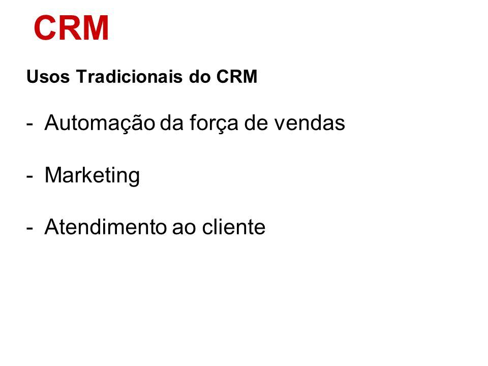 CRM Automação da força de vendas Marketing Atendimento ao cliente