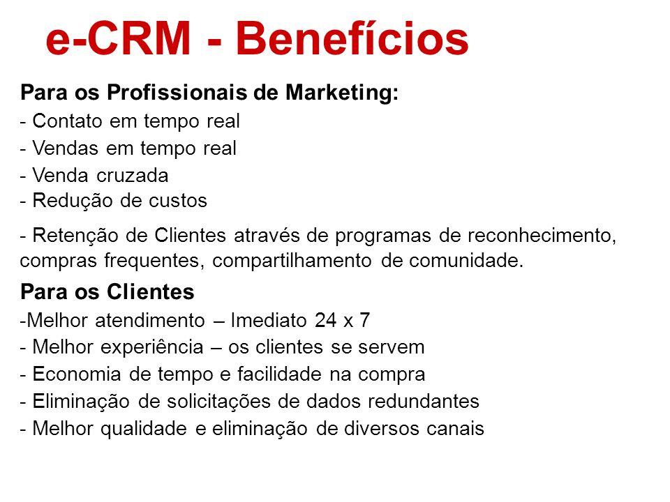 e-CRM - Benefícios Para os Profissionais de Marketing: