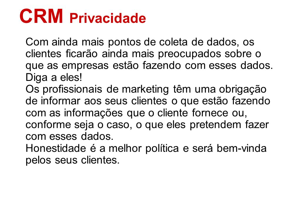 CRM Privacidade