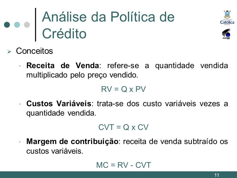 Análise da Política de Crédito