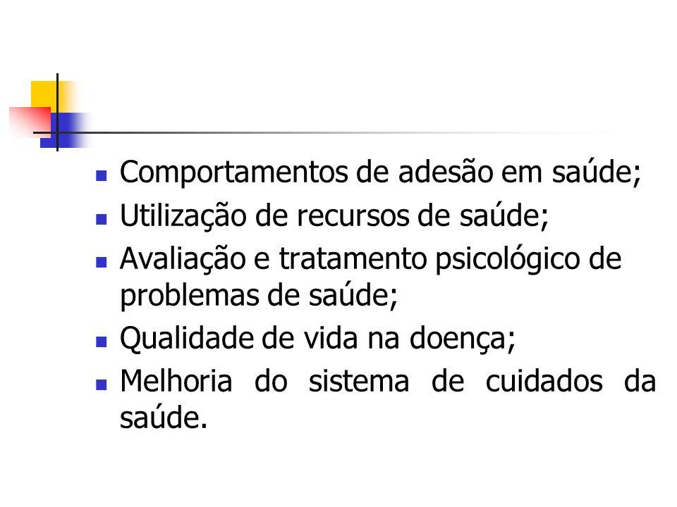 Comportamentos de adesão em saúde;