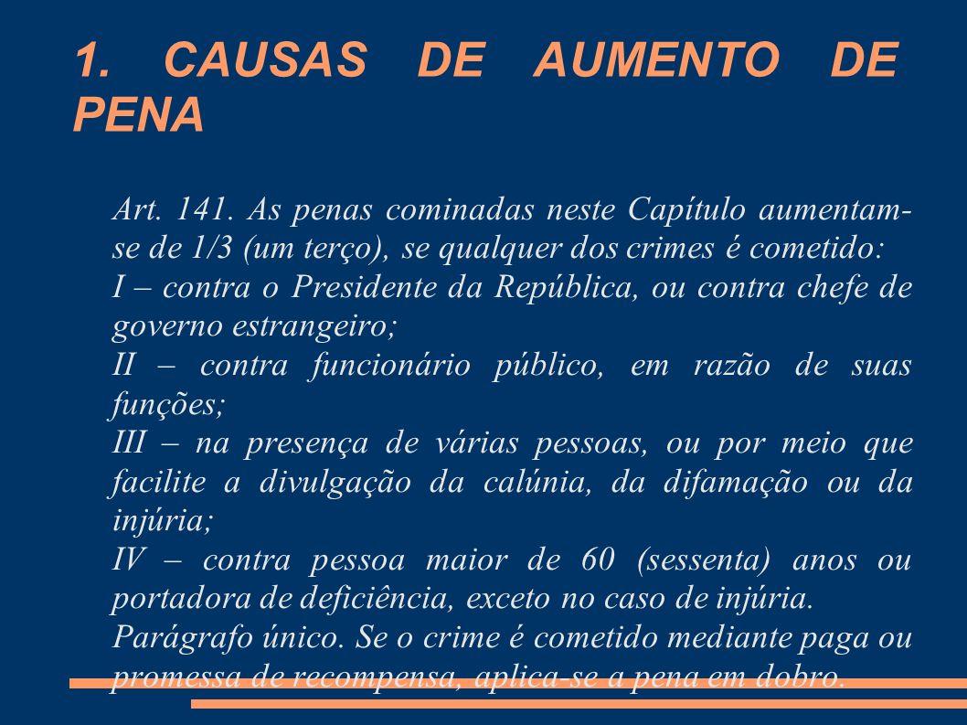 1. CAUSAS DE AUMENTO DE PENA