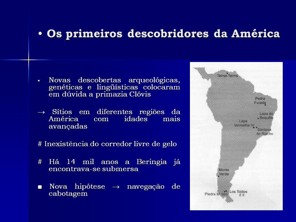 Os primeiros descobridores da América