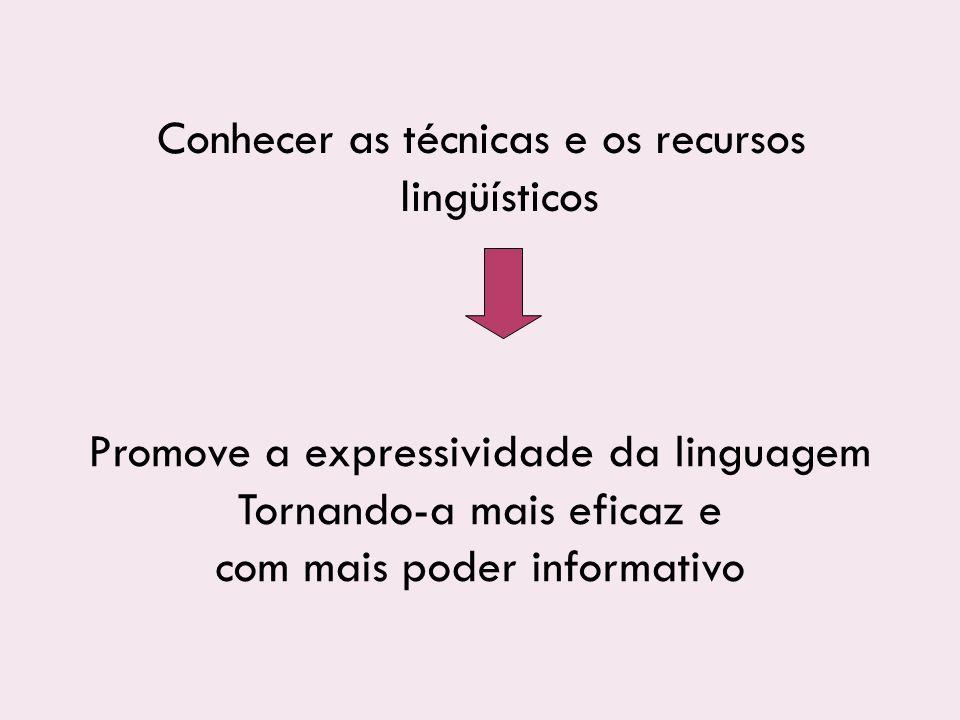 Conhecer as técnicas e os recursos lingüísticos