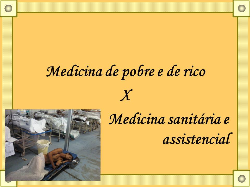 Medicina de pobre e de rico